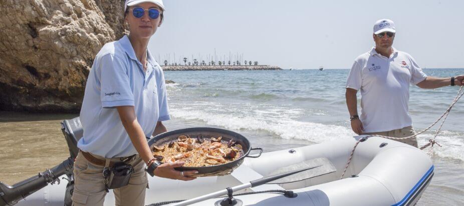 delivery vivero beach club restaurant sitges
