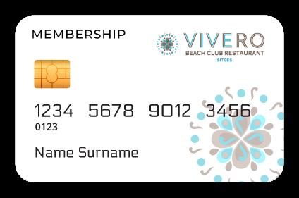tarjeta membership vivero beach restraurant sitges